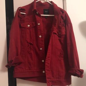 Distressed Red Jacket